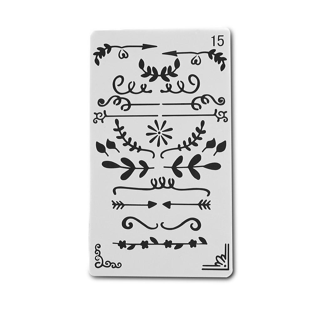 Bullet Journal Dividers Decorations Stencil