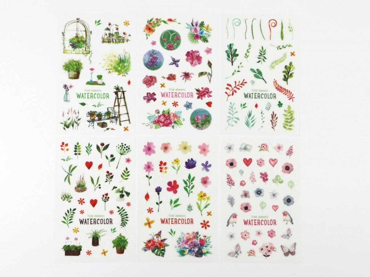 Plants Floral Planner Stickers 6 sheets