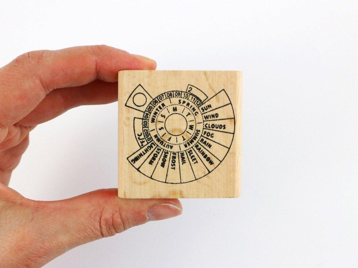 Perpetual Calendar Bullet Journal Stamp