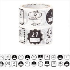 maste monochrome date washi tape