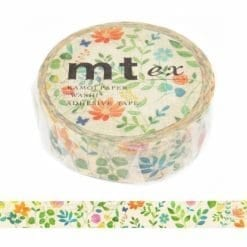 mt watercolor flowers washi tape