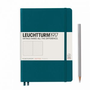Leuchtturm1917 Hardcover A5 Medium Dotted Pages Pacific Green