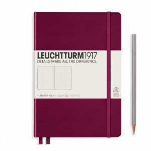 Leuchtturm1917 Hardcover A5 Medium Dotted Pages Port Red