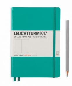 Leuchtturm Hardcover Notebook A5 Medium Dotted Emerald