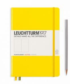 Leuchtturm1917 Hardcover A5 Medium Dotted Pages Lemon