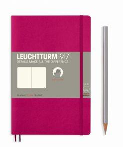 Leuchtturm B6 softcover notebook plain pages berry colour