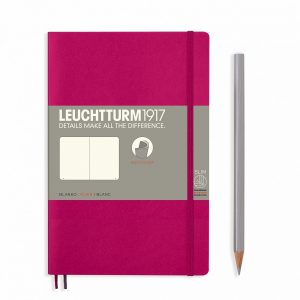 Leuchtturm B6 softcover notebook plain pages berry colour