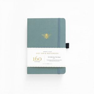 Archer & Olive Vintage Bee Dot Grid Notebook with paper strap