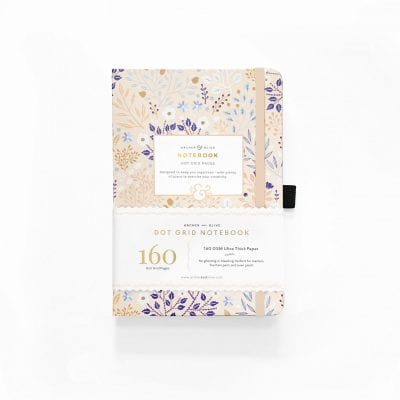 Archer & Olive Blush a Bye Dot Grid Notebook