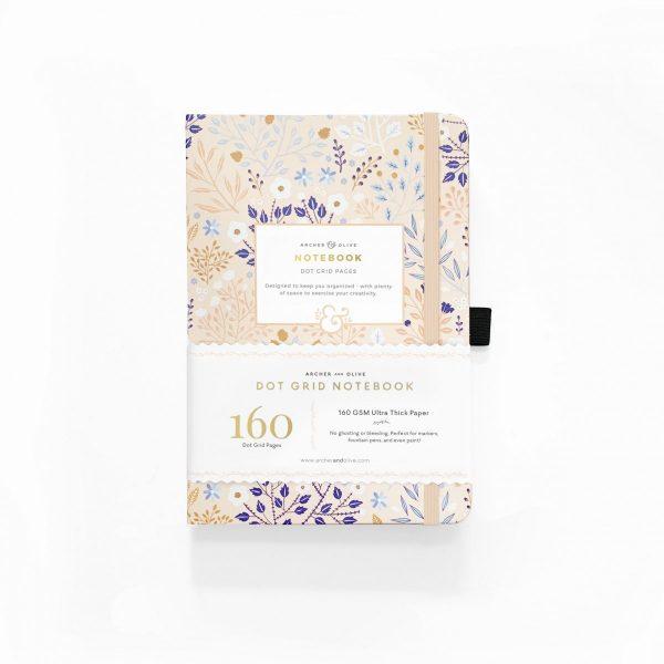 Archer & Olive Blush a Bye Dot Grid Notebook