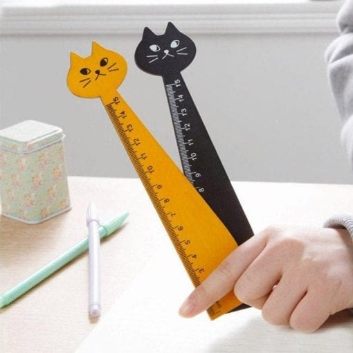 Cute Cat Wooden Ruler