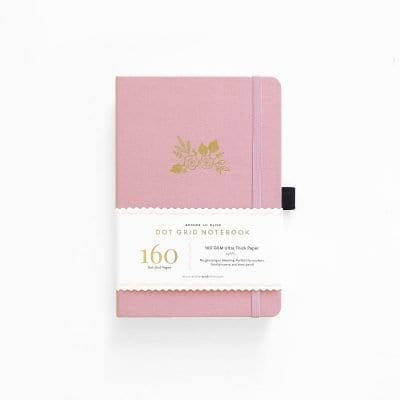 Archer & Olive A5 Light Pink Dot Grid Notebook