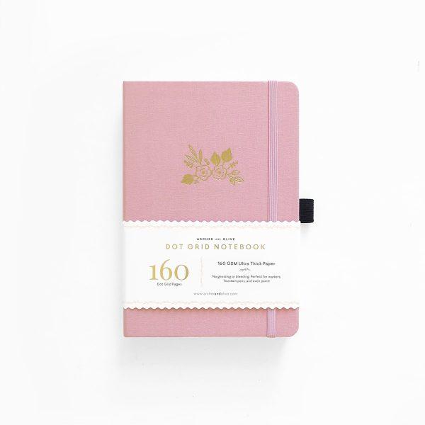 Archer & Olive A5 Light Pink Dot Grid Notebook