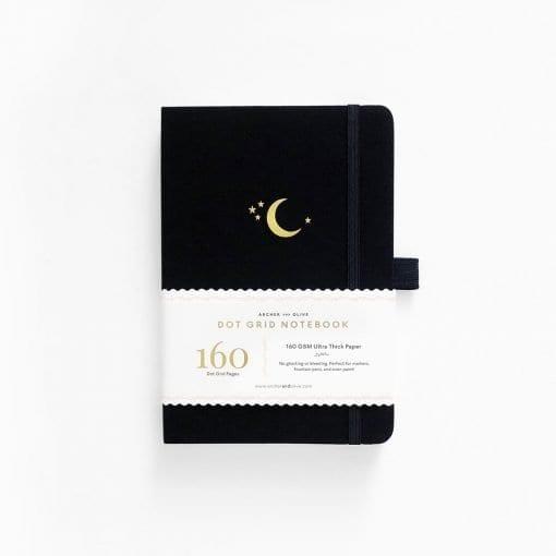 Archer & Olive A5 Crescent Moon Dot Grid Notebook