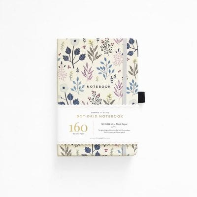 Archer and Olive A5 Fall Flowers Dot Grid Notebook