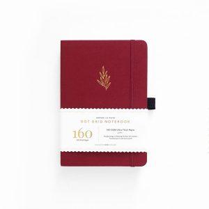 Archer & Olive A5 Red Leaf Dot Grid Notebook_1