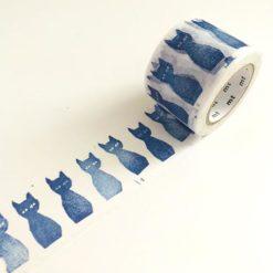 MT Mina Perhonen Ao-Neko washi tape Blue Cats