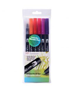 Tombow ABT brush pen Sunset set