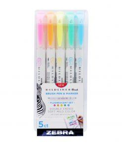 Zebra Mildliner Brush Neon Set