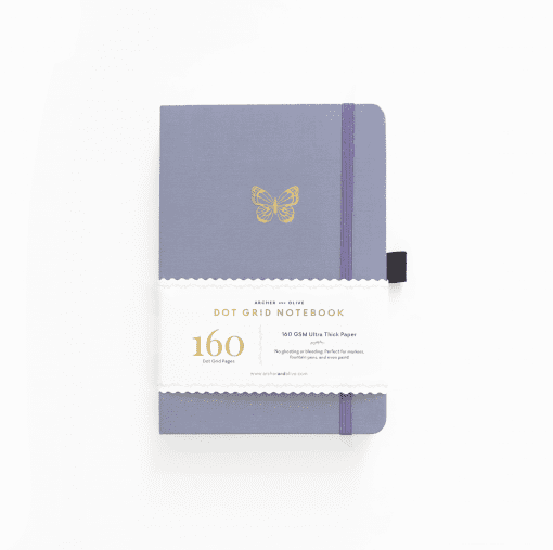 archer olive butterfly-wings a5 notebook