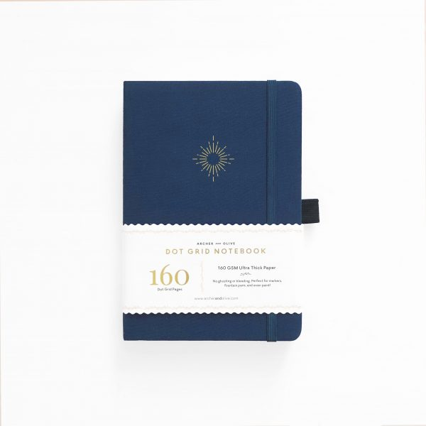 archer olive celestial-events-north-stars a5 notebook