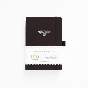 archer olive creatures-of-the-night-owl_a5 notebook