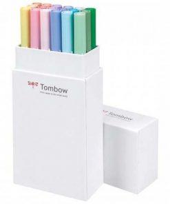 tombow dual brush pens pastel set of 12