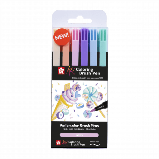 Sakura Koi Colour Brush Pen Sweets Set