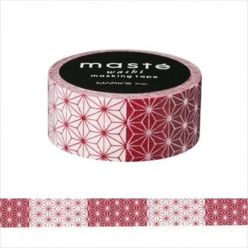 Maste' Red Asanoha Washi Tape