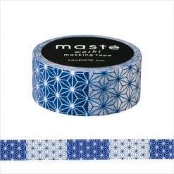 Maste' Blue Asanoha Washi Tape