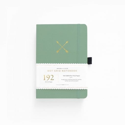 Archer & Olive Twin Arrows 192 pages A5 dot grid notebook