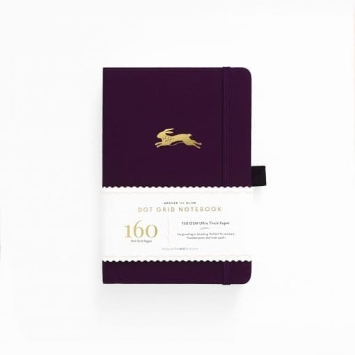 Archer & Olive A5 Lucky Rabbit 160pgs dot grid notebook