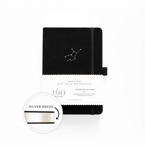 A5 Archer & Olive Zodiac - Virgo Dot Grid Notebook