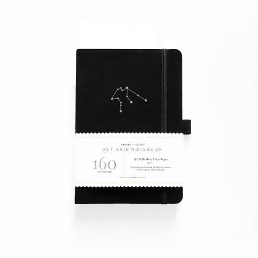 A5 Archer & Olive Zodiac - Aquarius Dot Grid Notebook Cover