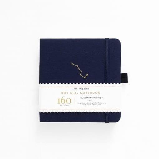 A5 Archer & Olive Night Sky 8x8 Square Dot Grid Notebook