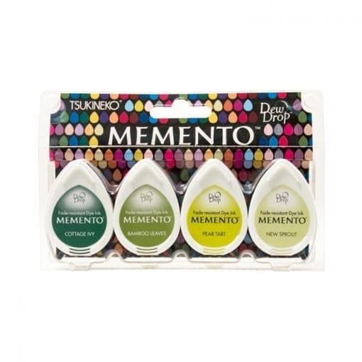 Tsukineko Memento Dew Drop Ink Pads 4-Pack - Greenhouse