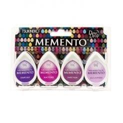Tsukineko Memento Dew Drop Ink Pads 4-Pack - Juicy Purples
