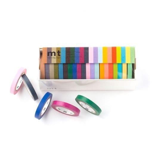 MT 20 Colours Slim Washi Tape Set