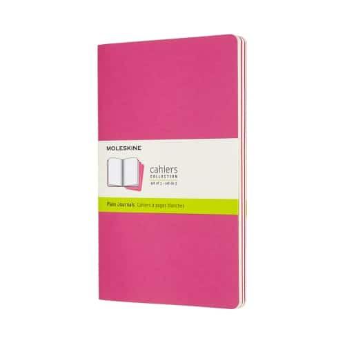 Moleskine Large Cahier Kinetic Pink Set of 3 Plain