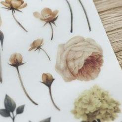 MU Print On Stickers Flowers detail