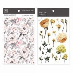 MU Print On Stickers Flowers