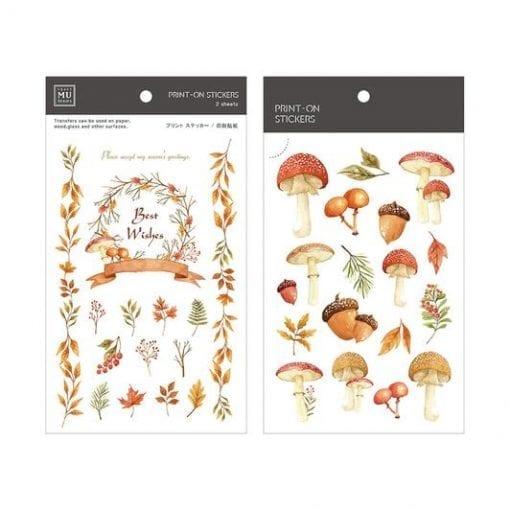 MU Print-On Stickers - Mushrooms