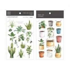 MU Print-On Stickers - House Plants