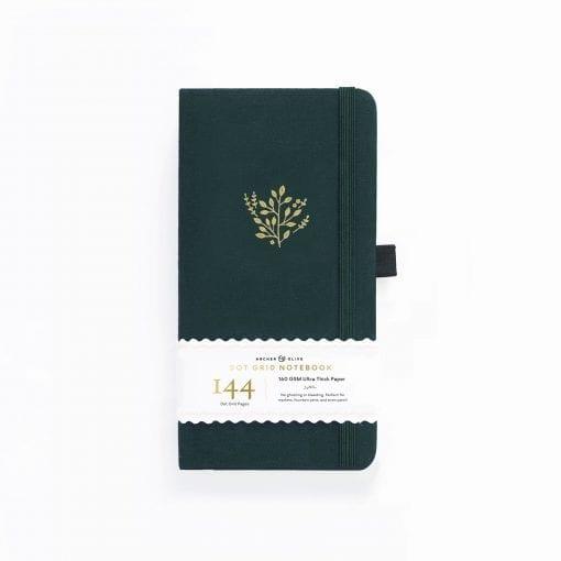 A5 Archer & Olive Traveler's Deep Green Dot Grid Notebook