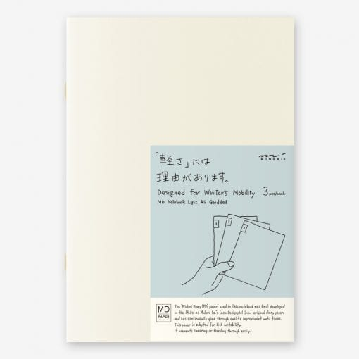 MD Paper Light Notebooks 3 Pack A5 Grid
