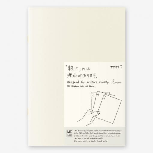 MD Paper Light Notebooks 3 Pack A5