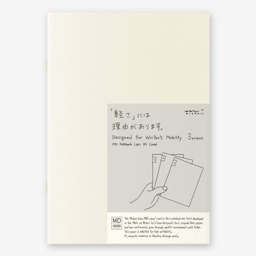 MD Paper Light Notebooks 3 Pack A5 Lined