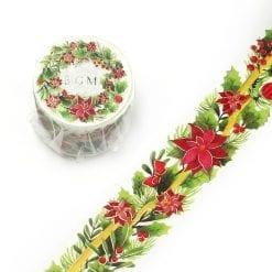 BGM Christmas Poinsettia Washi Tape
