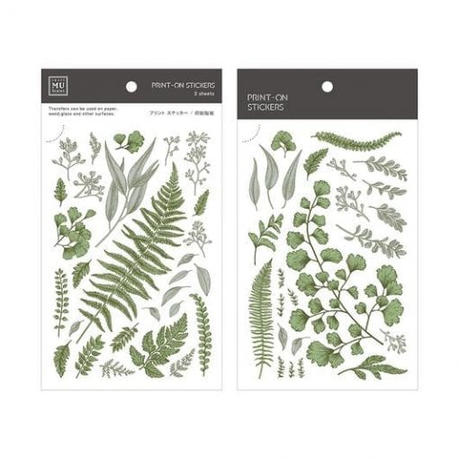 MU Print-On Stickers - Vintage Greens