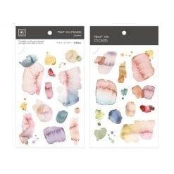 MU Print-On Stickers - Watercolour Pink